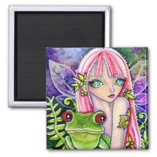 Magnet - Green Frog Elf