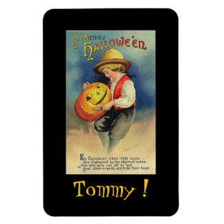 Magnet - Halloween Boy Pumpkin 4x6 flex magnet