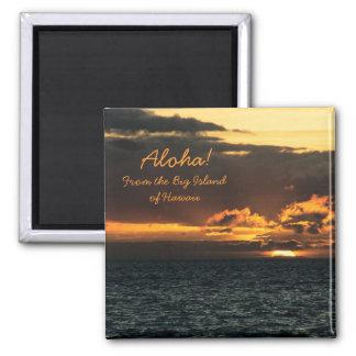 Magnet: Hawaii Sunset (Square) Magnet