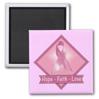 Magnet - Hope Faith Love Breast Cancer