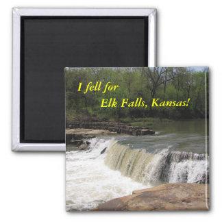 Magnet:  I fell for Elk Falls, Kansas! 2 Inch Square Magnet