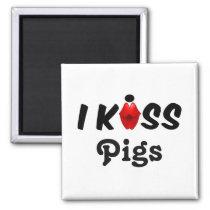 Magnet I Kiss Pigs