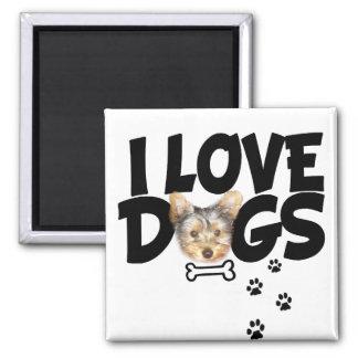 "MAGNET ""I LOVE DOGS"""