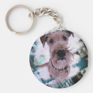 Magnet Irish Terrier Basic Round Button Keychain