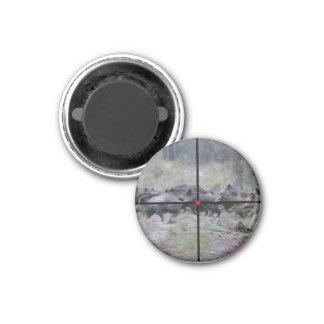 magnet jabalí imán redondo 3 cm