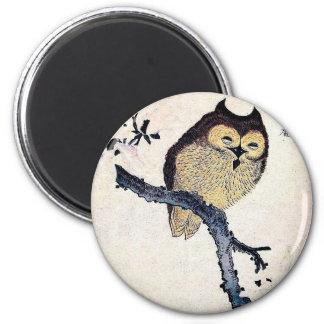 Magnet Japanese Owl From Manuscript