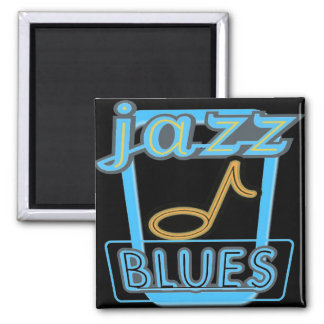 Magnet-Jazz Blues Music- 2 Inch Square Magnet