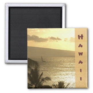 Magnet: Lahaina Sunset #1 2 Inch Square Magnet