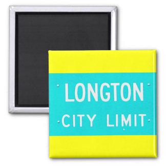 Magnet: Longton City Limit 2 Inch Square Magnet