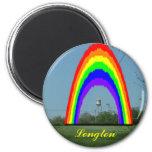 Magnet: Longton Rainbow 2 Inch Round Magnet