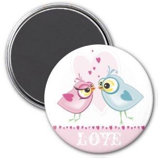 MAGNET :: love birds magnet