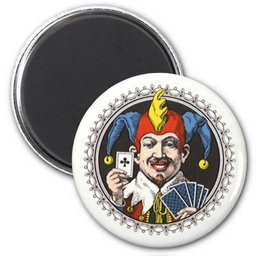 Magnet ~ Lucky Royal Joker Holding Club Card Play