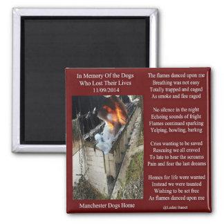 Magnet Manchester Dog Fire Poem