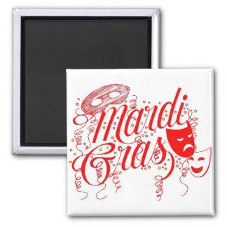 Magnet-Mardi Gras 2 Inch Square Magnet