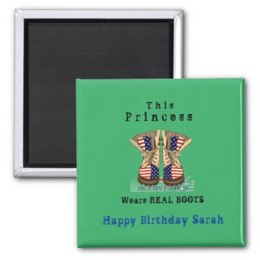 Magnet military theme combat boots small gift