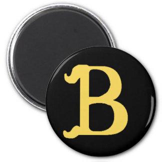 Magnet Monogrammed Letter B (round black pictured)