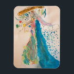 """Magnet - Mother God Holding the Universe<br><div class=""""desc"""">This is a magnet of a watercolor image painted by an 8-year-old artist of Mother God holding the universe. She is rainbow-colored because she represents all people.</div>"""