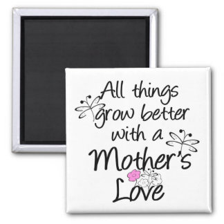 Magnet-Mother's Love 2 Inch Square Magnet