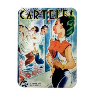 Magnet of Beautiful Vintage Cuba Refrigerator Cuba