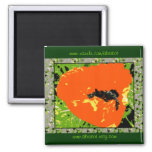 Magnet - Oriental Poppy Shine Abstract