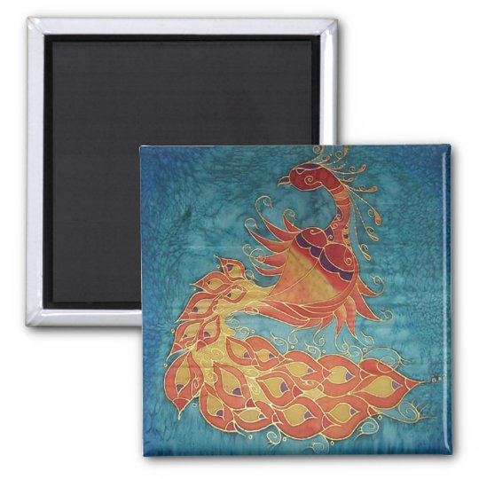 Magnet: Original Hand Painted silk By Kim Magnet