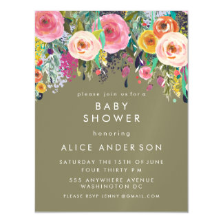 Perfect |MAGNET| Painted Floral Baby Shower Invite