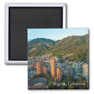 Magnet, panoramic Bogota, Colombia 2 Inch Square Magnet