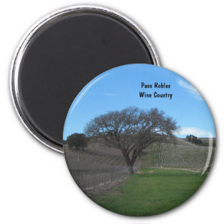 Magnet: Paso Robles, CA Wine Country 2 Inch Round Magnet