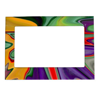 MAGNET PIC. FRAME/ ABSTRACT DESIGN/BOLD COLORS/PHO MAGNETIC PICTURE FRAME