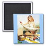 Magnet Pinup Girls Art Vintage Retro Fridge Magnet
