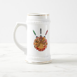Magnet Pizza on the cutting board 18 Oz Beer Stein