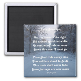 Magnet Poem Snow Journeys By Ladee Basset