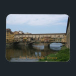 "Magnet--Ponte Vecchio Bridge Magnet<br><div class=""desc"">This design is a photograph of the Ponte Vecchio bridge in Florence,  Italy.</div>"