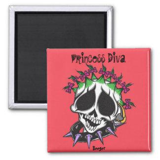 Magnet- Princess Diva Skull
