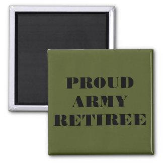 Magnet Proud Army Retiree Refrigerator Magnet