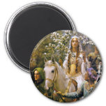 Magnet:  Queen Guinevere 2 Inch Round Magnet