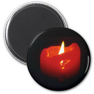 Magnet - Red Candle with Flame