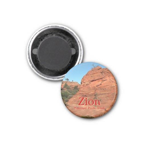 Magnet: Red Rock In Zion (Round)
