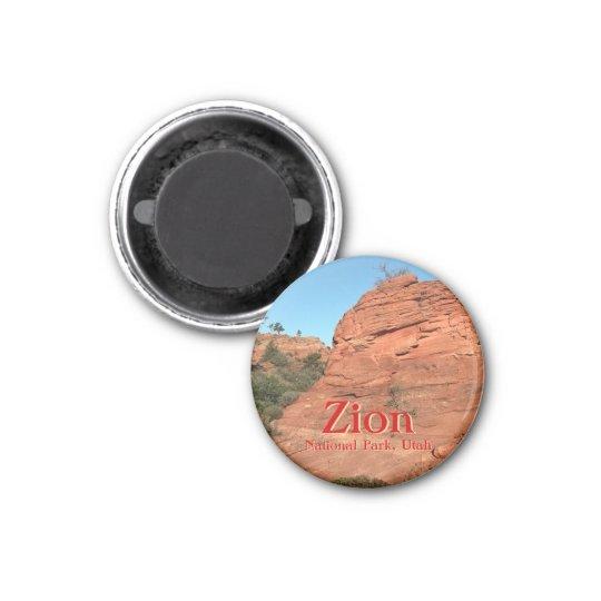Magnet: Red Rock In Zion (Round) Magnet