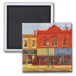 Magnet ~ RETRO Mid-Century TOWN CITY STORE-FRONTS