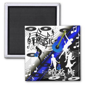Magnet Retro Rock 'N' Roll Music Rocks Me Fridge Magnets