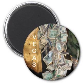 Magnet, round, Vegas Money