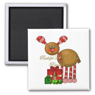 Magnet-Rudolph the Red Nose Reindeer 2 Inch Square Magnet