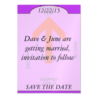 magnet - save the date - vert magnetic card
