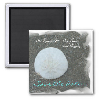 magnet - save the date w/sand dollar