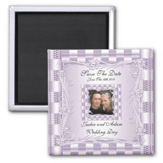 Magnet Save The Date Wedding Mauve Lilac Floral