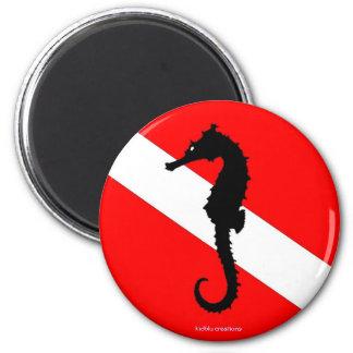 magnet - seahorse dive flag