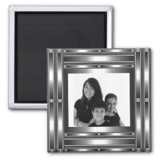 Magnet Silver Chrome Add Your Photo Refrigerator Magnet
