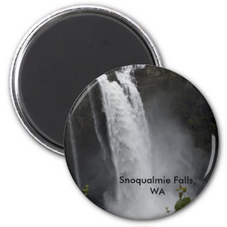 Magnet:  Snoqualmie Falls 2 Inch Round Magnet