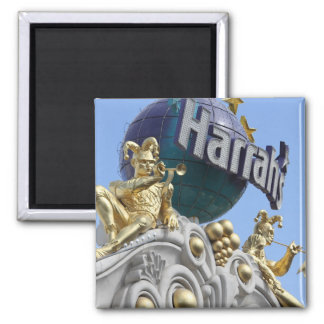 Magnet, square, Las Vegas, Harrah's 2 Inch Square Magnet